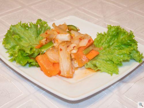 Csípős káposzta saláta